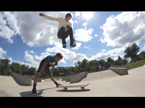 Skater Hippie Jumps Over A Person! WTF!?
