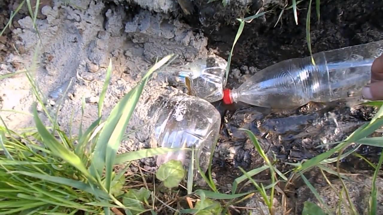 Дренажная канава своими руками из пластиковых бутылок 2