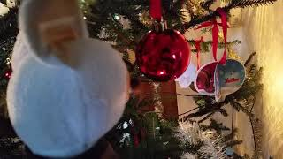 Kung fu panda Young Shifu is dancing around my Christmas tree