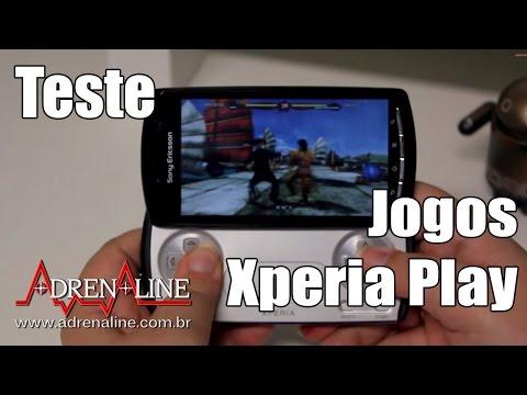 Teste de jogos no Xperia Play