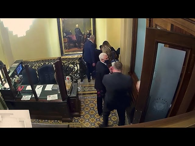 Watch the moment Mike Pence was rescued during US Capitol riots  Donald Trump impeachment trial