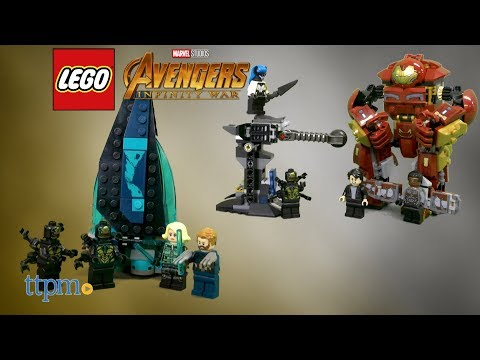 Watching video LEGO Avengers: Infinity War The Hulkbuster Smash-Up and Outrider Dropship Attack from LEGO