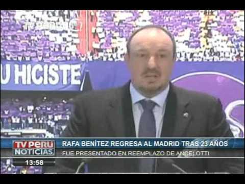 Rafael Benítez fue presentado como nuevo entrenador del Real Madrid
