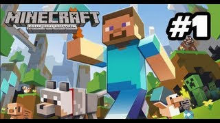 Mincraft Lets Play Xbox 360 Edition- Part 1: Gathering Supplies!