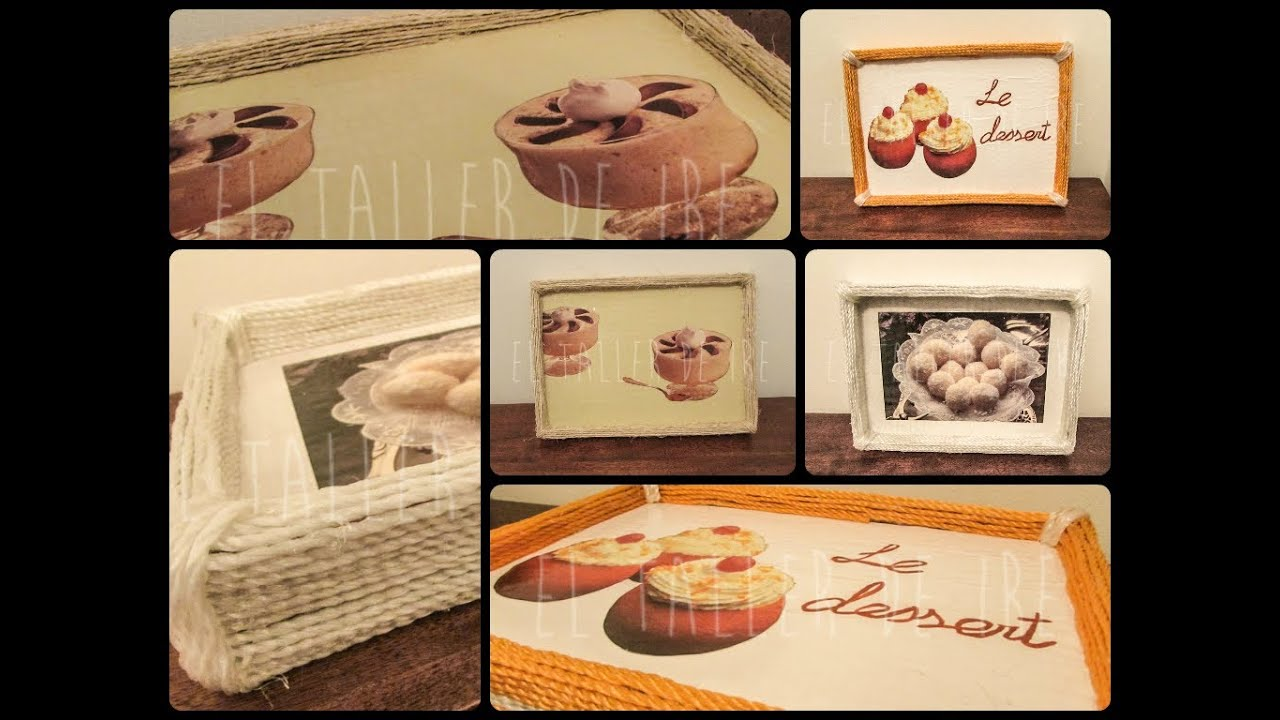 Diy bandejas de cart n y cuerda youtube - Bandejas carton ...