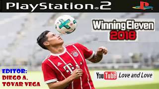 winning eleven 2018 para PS2 idioma español y portugués
