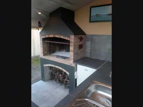 fabrication d un barbecue ,tourne broche élèctrique lumière interieur ,grille reglable