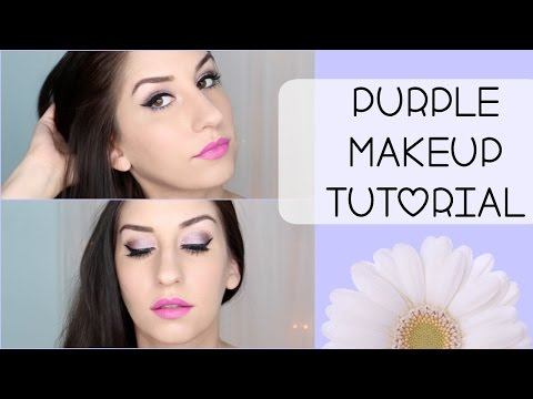 Full Face Makeup Tutorial for Brown Eyes   Purple Love
