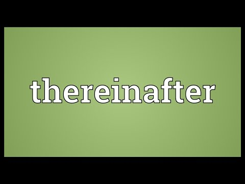 Header of thereinafter