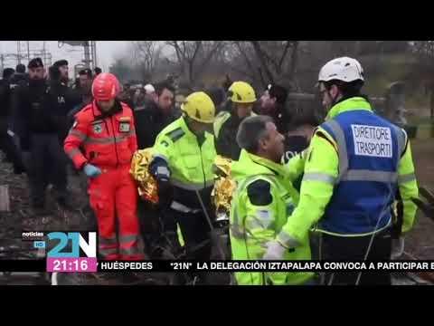 Fallecen dos personas en accidente de tren en Mila?n