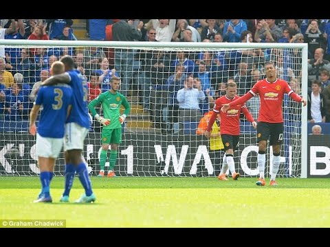 Leicester City vs Manchester United 5 3 English Commentary  FULL MATCH HIGHLIGHTS   21 09 2014 HD