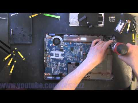 HP G56  take apart video. disassemble. howto open (nothing left) disassembly