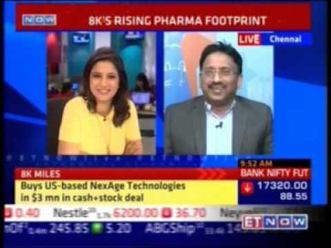 ET NOW - 8K Miles to acquires NexAge - Suresh Venkatachari, 21-Sep 2105