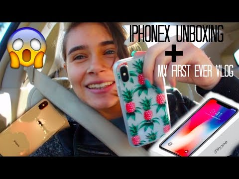 My First Vlog + IPhone X Unboxing
