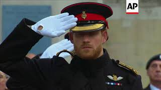 Prince Harry leads Remembrance Day tributes in London