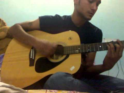 neele neele ambar par   hindi acoustic cover and tutorial