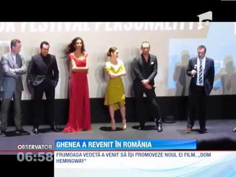 """Mădălina Ghenea îşi promovează în România noul ei film, """"Dom Hemingway"""""""