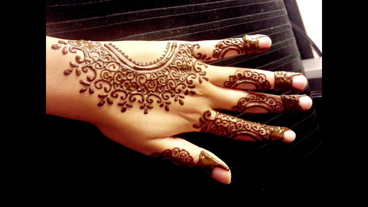 Simple Mehndi Tutorials : Arabic henna design simple easy mehendi tutorial youtube