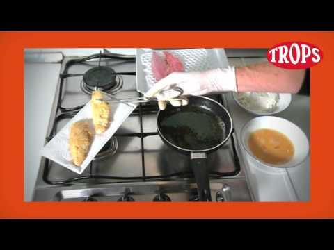 Receta de TROPS, lomo de salmonete frito con salpicón de mango, por Dani Garcia