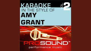 Love Has A Hold On Me (Karaoke Instrumental Track) (In the style of Amy Grant)