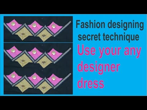 new temple with wings design with button | fashion designing secret technique | online learning