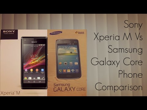 Sony Xperia M Vs Samsung Galaxy Core Phone Comparison Display Video Playback Camera - PhoneRadar