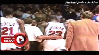 Michael Jordan Gets Standing Ovation in his First NBA Game