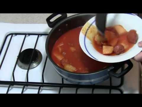 Longaniza en salsa roja, Como hacer Longaniza en salsa roja,  Receta Longaniza en salsa roja