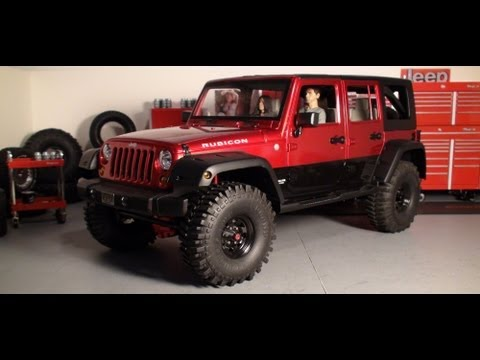 Custom Jeep JK Wrangler Unlimited hardbody scale RC truck - video build and shop scenes.