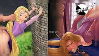 Perturbaciones e imágenes graciosas sobre personajes de dibujos animados clásicos de Disney