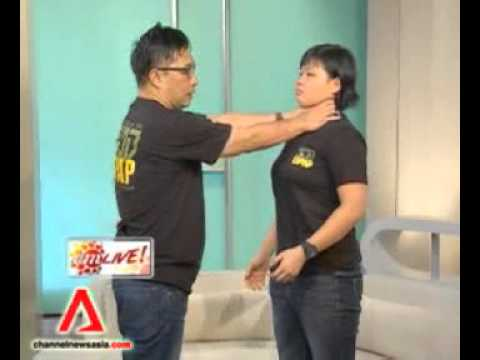 Kapap ladies self defense featured on Channelnewsasia AM Live.flv Image 1