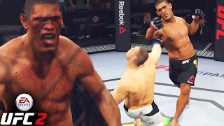 BigFoot Silva Battles Cain Velasquez - 3 Round WAR - EA Sports UFC 2 Online Gameplay