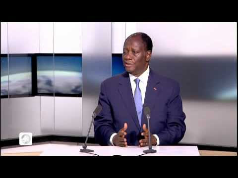 Alassane Ouattara sur le plateau de TV5Monde