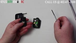 How To Replace Audi A4 Key Fob Battery 1997 1998 1999 2000 2001