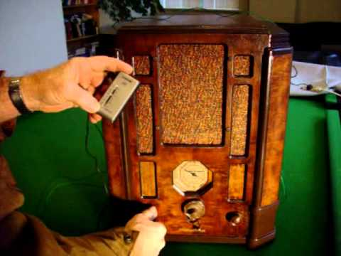 1935 Stromberg Carlson Tombstone Shortwave Radio 61U playing BC FM and mp3