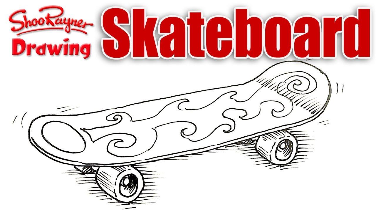Скейт рисунок 1