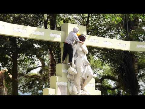 Intervención artística en las Virtudes de Xalapa