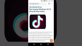 Tik Tok for PC or Mac/Laptop/Windows 10,7,8 (Step By Step Guide)