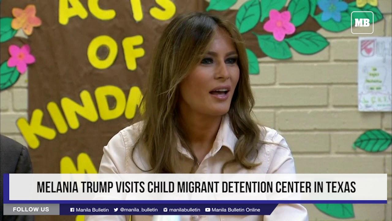 Melania Trump visits children migrant detention center