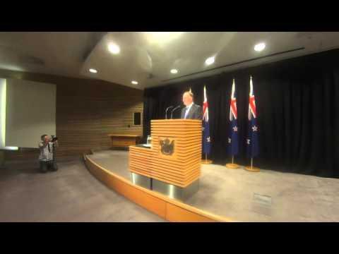 NZ PM John Key's Post-Cabinet Press Conference 7/3/16