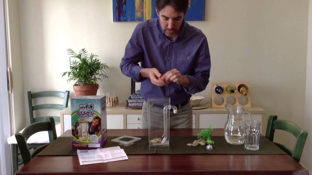 How to assemble your my fun fish cleaning tank youtube for Fun fish tank