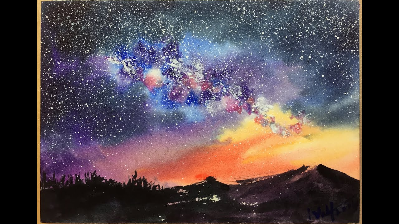 Нарисовать ночной небо