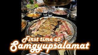 First Time at Samgyupsalamat -April 4, 2018 Vlog #245-