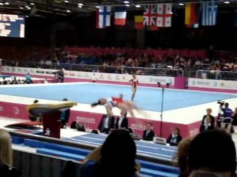 Sophia SERSERI FRA, Vault Senior Qualification, European Gymnastics Championships 2012