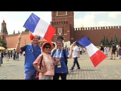 Croatia and France fans ready for World Cup final in Moscow thumbnail