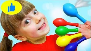 Learn colors with Balloons Finger Family song Kids playing and learning colors for children   # 522