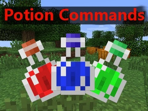 How To Use The /Effect Command For Potion Effects - Minecraft 1.5 Command Tutorial