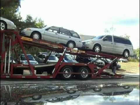 Unloading The Car Carrier Youtube