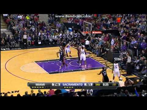 Mario Chalmers (34Pts), LeBron James (20Pts) vs Kings (2013.01.12)