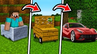 DE CARRO NOOB A CARRO PRO NO MINECRAFT !